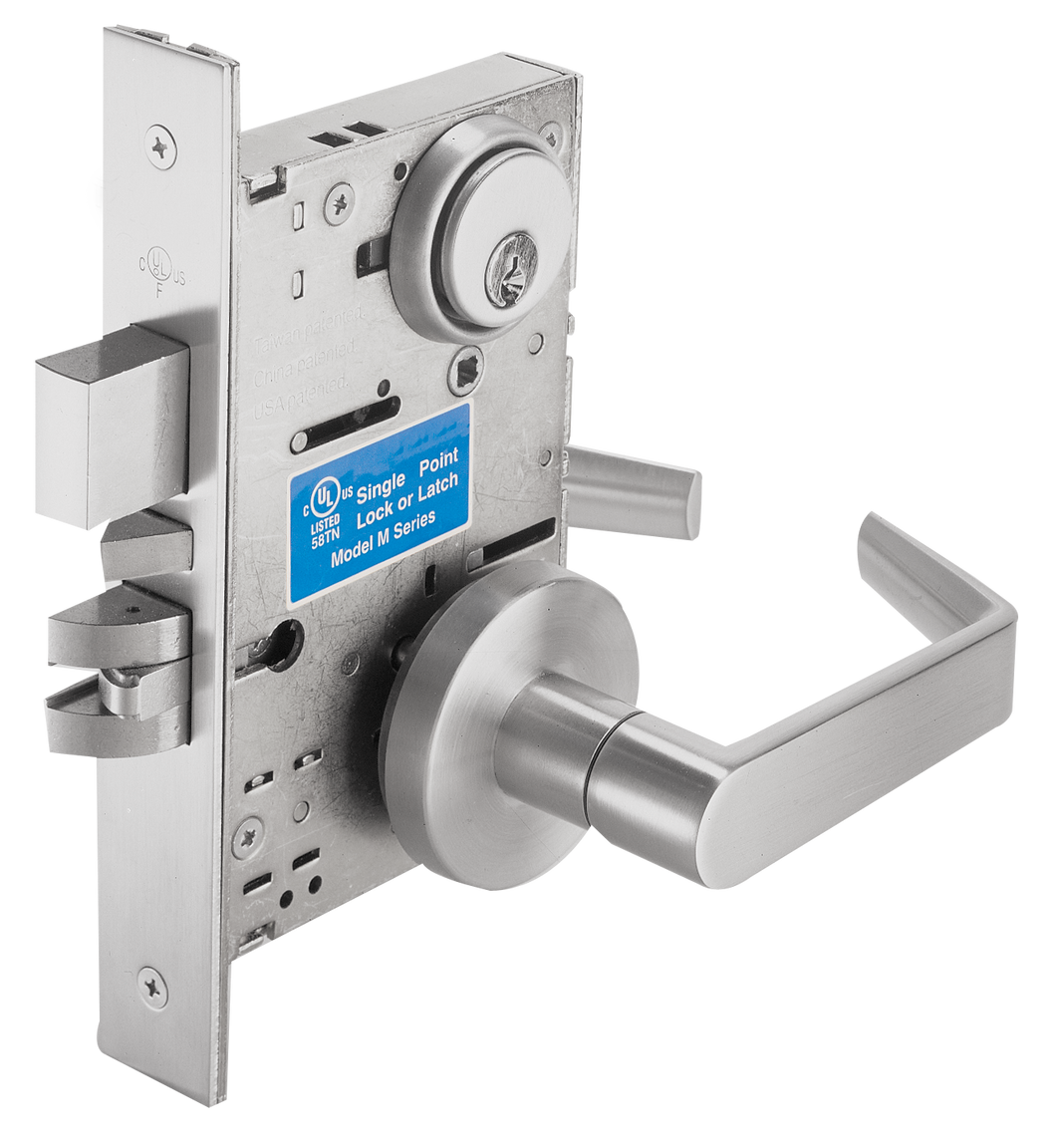 Cal-Royal SC Series, Extra Heavy Duty Mortise Locks with Clutch, Grade 1 - Single Fixed Dummy Function SC8170