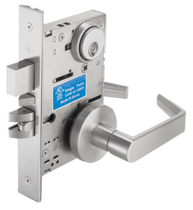Cal-Royal SC Series, Extra Heavy Duty Mortise Locks with Clutch, Grade 1 - Classroom Security Lock w/ Deadbolt and Auxiliary Latch SC8458, F34
