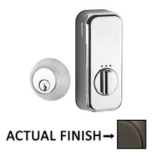 Load image into Gallery viewer, EMPowered Deadbolts - Empowered Regular Round Single Cylinder Deadbolt Connected by August in Satin Nickel - Emtek Hardware