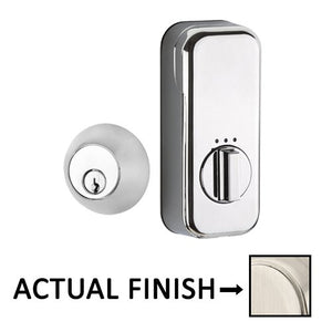 EMPowered Deadbolts - Empowered Regular Round Single Cylinder Deadbolt Connected by August in Satin Nickel - Emtek Hardware