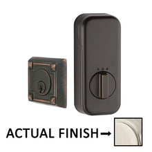 Load image into Gallery viewer, EMPowered Deadbolts - Empowered Arts and Crafts Single Cylinder Deadbolt Connected by August in Oil Rubbed Bronze - Emtek Hardware