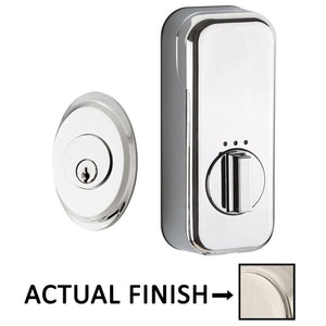 EMPowered Deadbolts - Empowered Saratoga Single Cylinder Deadbolt Connected by August in Satin Nickel - Emtek Hardware