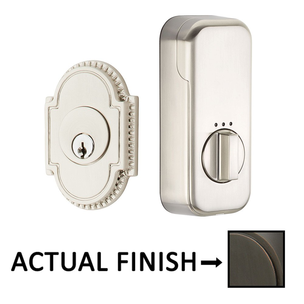 EMPowered Deadbolts - Empowered Knoxville Single Cylinder Deadbolt Connected by August in Satin Nickel - Emtek Hardware