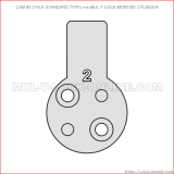 Cam #2 (YALE standard type) for MUL-T-LOCK Mortise Cylinder
