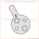 Cam #8 (SARGENT offset type) for MUL-T-LOCK Mortise Cylinder