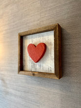 Load image into Gallery viewer, Reclaimed Wood Shadowbox - Heart