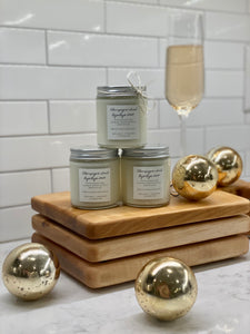 Champagne Toast Bye Bye 2020 Wood Wick Candle Collection