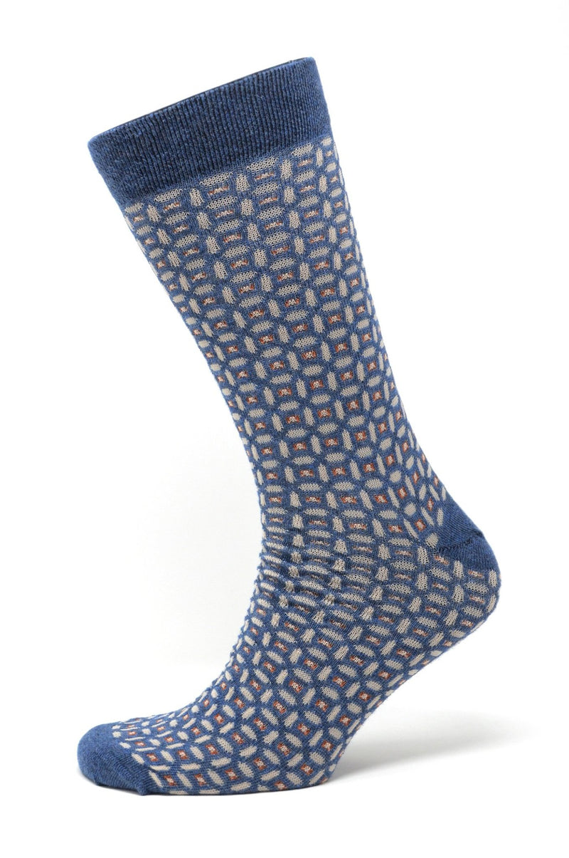 REAL GUYS Socke blau mit Elipsen - REAL GUYS