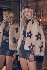 Faux Fur Star Coat