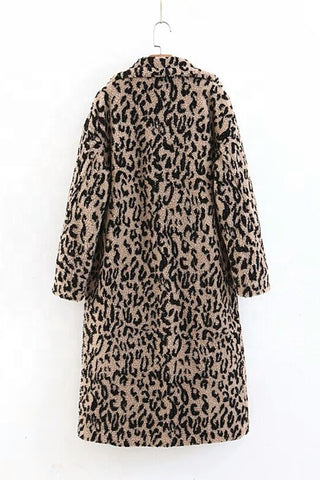 Leopard Teddy Coat
