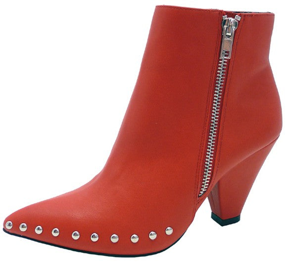 Heidi Studded Boot Red