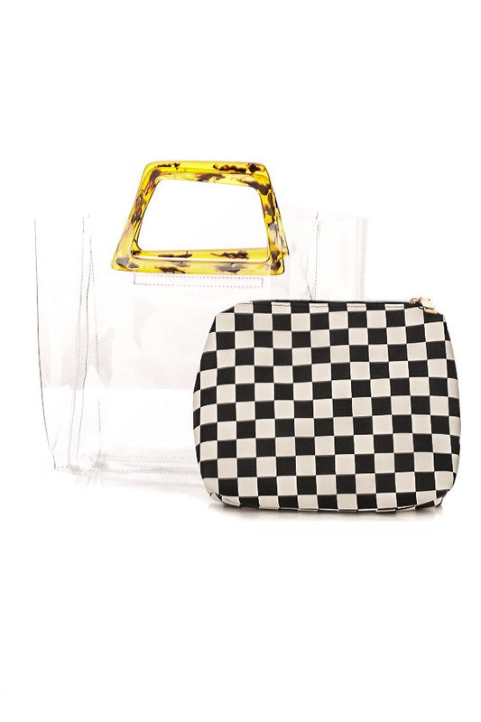 Mina Checkered Bag