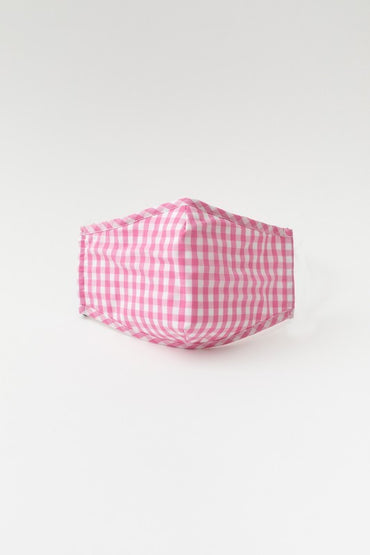 Pink Gingham Mask