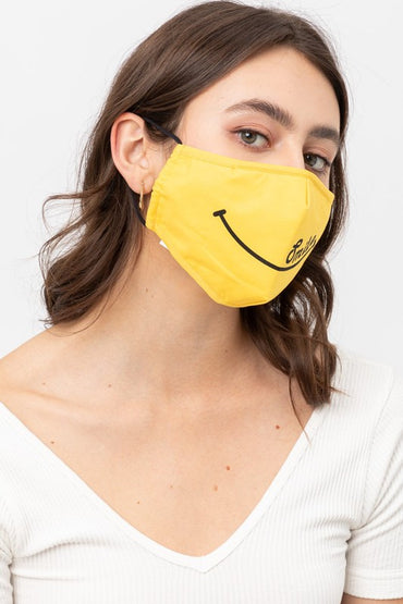 Yellow Smiley Mask