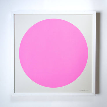 Banquet Workshop - The Neon Pink Sun Screenprint