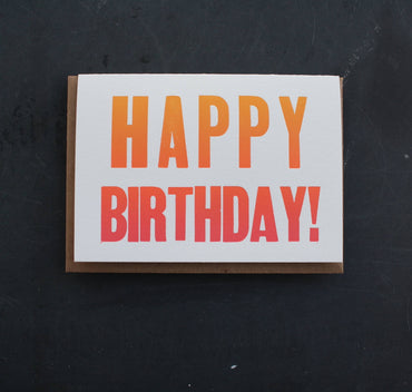 Etc. Letterpress - Happy Birthday Card