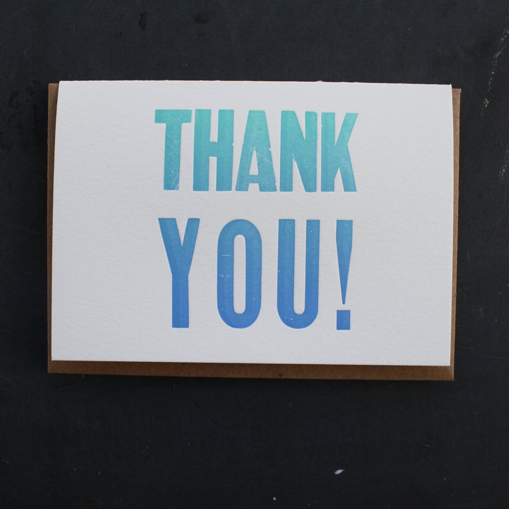 Etc. Letterpress - Thank You Card