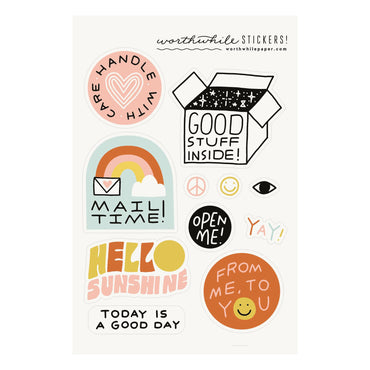 Worthwhile Paper - Snail Mail Sticker Sheet (set of 2)