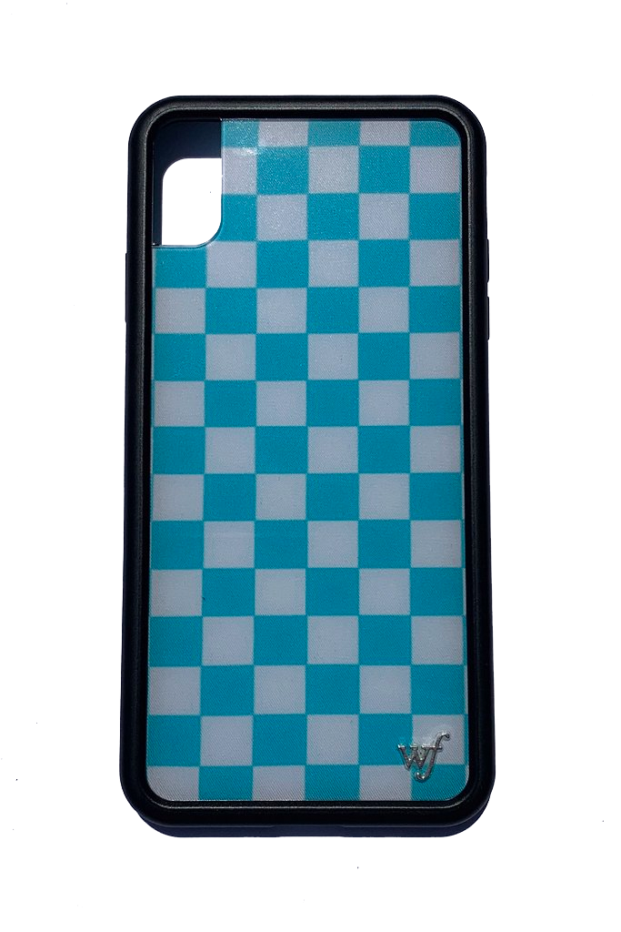 Blue Checkers iPhone Xs Max Case