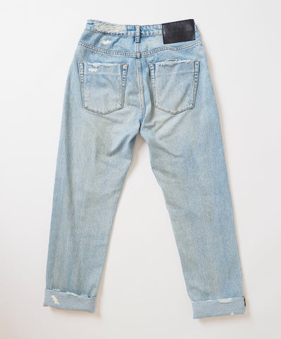 KANSAS BLUE AWESOME BAGGIES HIGH WAIST STRAIGHT LEG JEAN