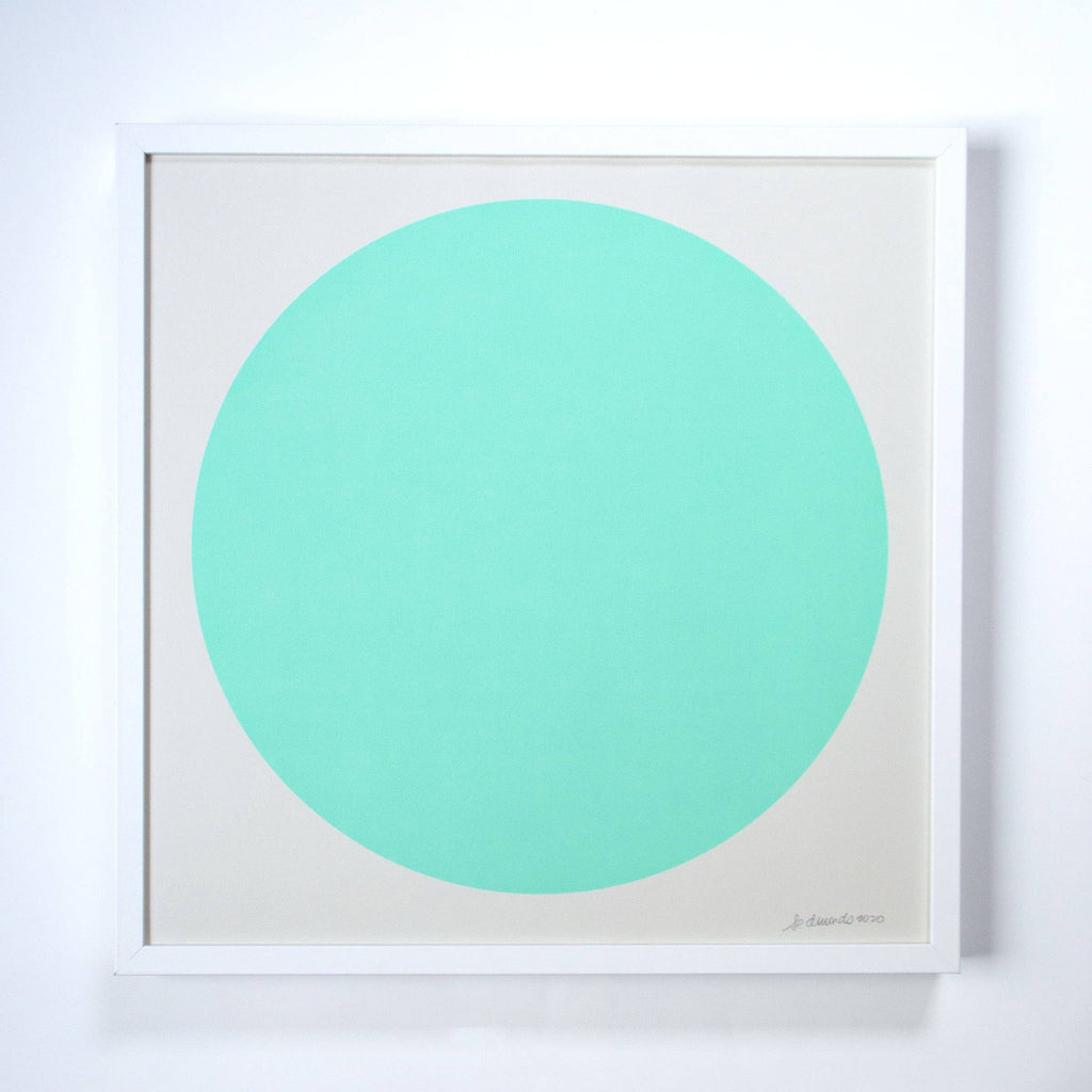 Banquet Workshop - The Aqua Green Sun Screenprint