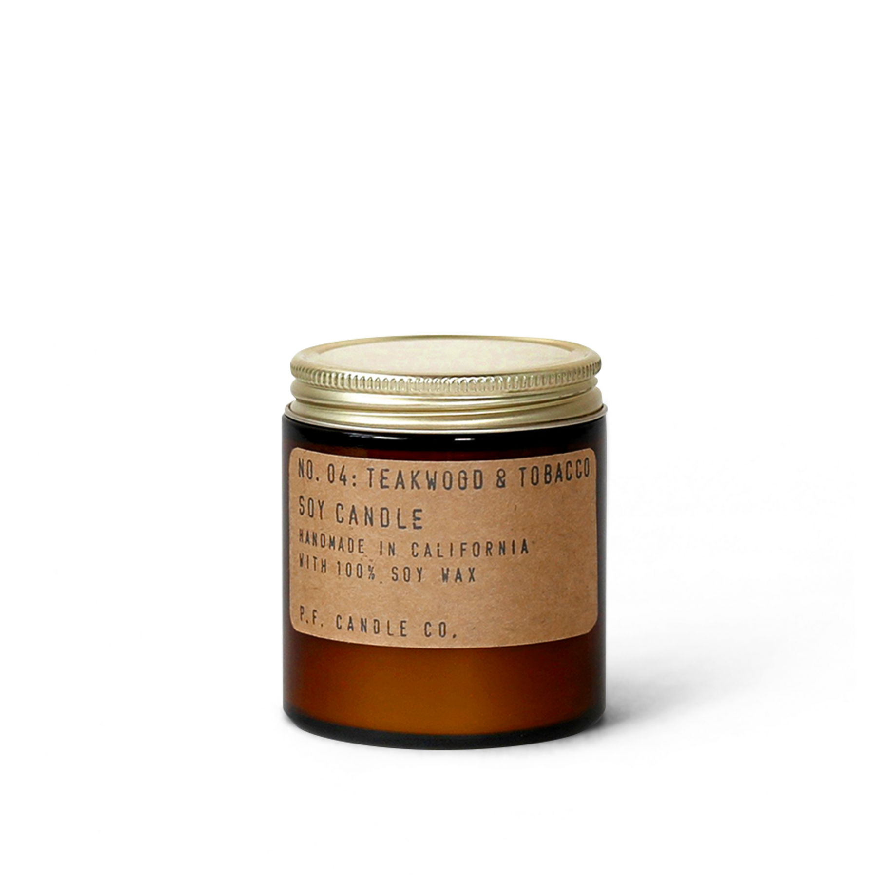 P.F. Candle Co. - Teakwood & Tobacco - 3.5 oz Mini Soy Candle
