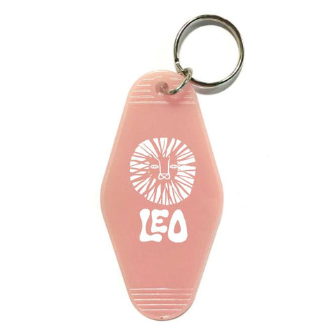Astrology Sign Key Tag - Pink