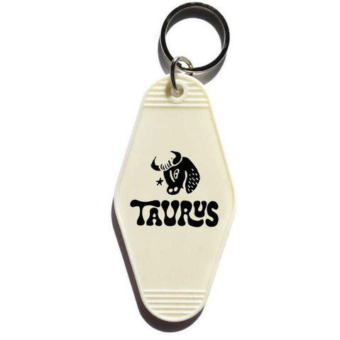 Astrology Sign Key Tag - White