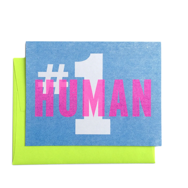 Next Chapter Studio - #1 Human - Greeting Card
