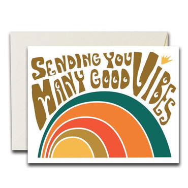 "Many Good Vibes Card (Box of 8) (4.25""x5.5"", Box of 8)"