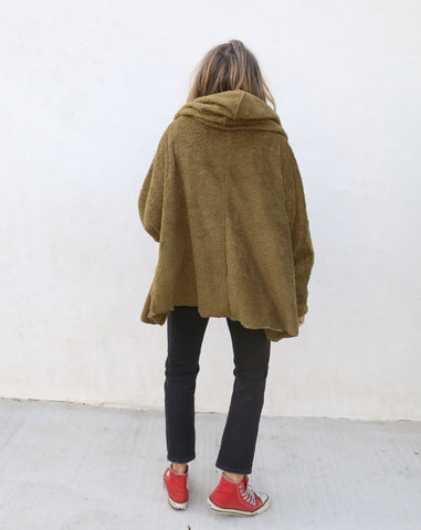 Olive Fleece Jacket