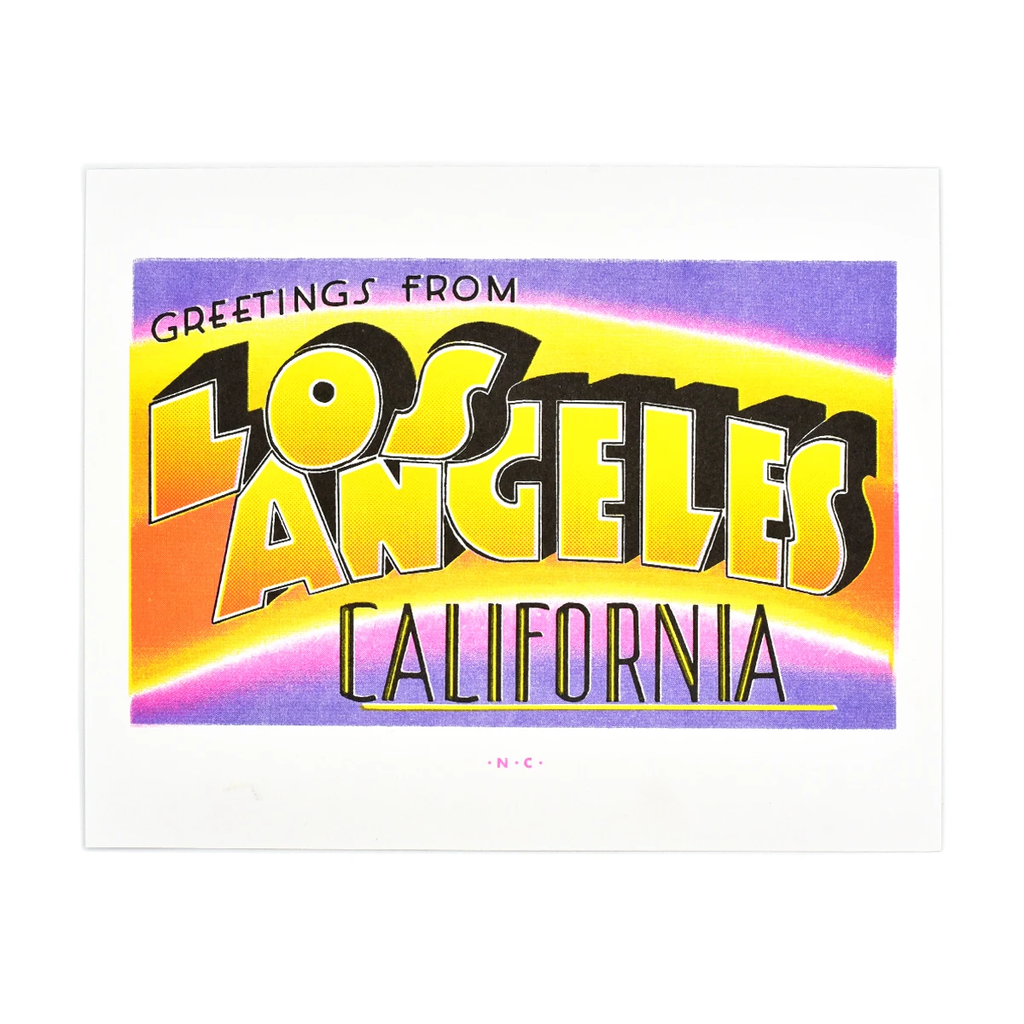 Next Chapter Studio - Greetings from: Los Angeles, California Risograph Print