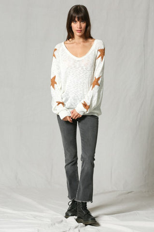 Ivory Star Sweater