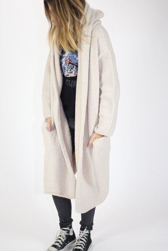 Oversized Hooded Cardi