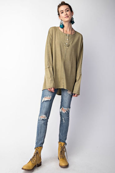 Faded Olive Henley