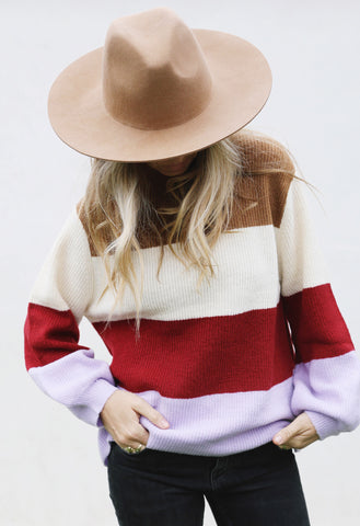 Lavender Stripe Sweater