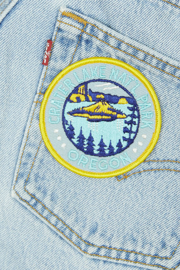 Vintage Crater Lake Patch
