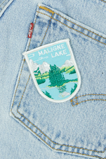Vintage Maligne Lake Patch