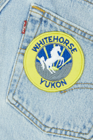 Vintage White Horse Patch