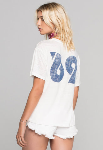 WOODSTOCK POSTER BURNOUT TEE