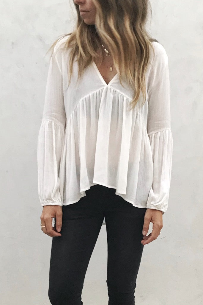 Blooms Blouse White