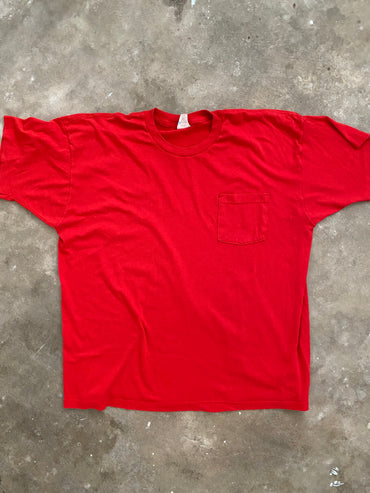 Vintage Red Pocket Tee