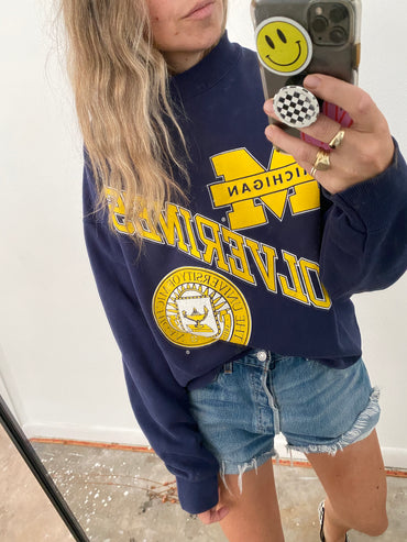 Vintage Michigan Pullover