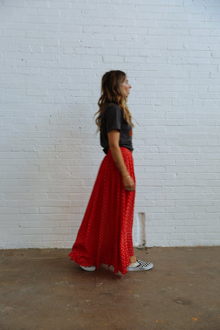 Skylar Red Skirt