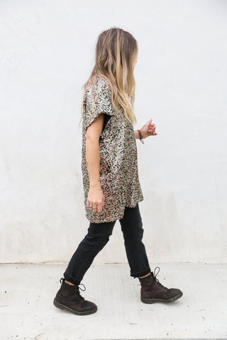 Sequin Tunic Dress