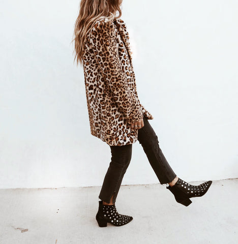 Honey Leopard Coat