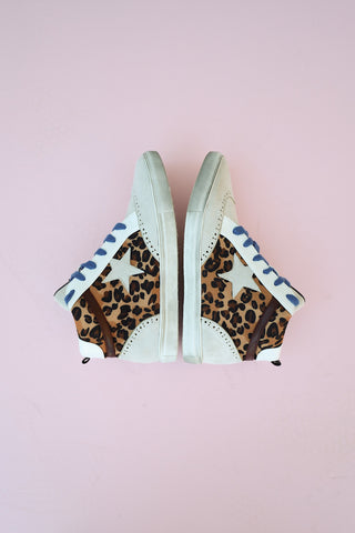 Leopard High Top Sneaks