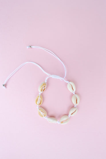 Shell Anklet - White