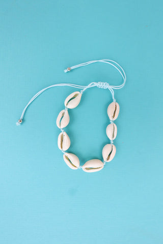 Shell Anklet - Blue