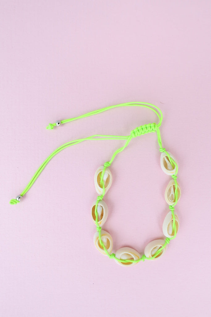 Shell Anklet - Green